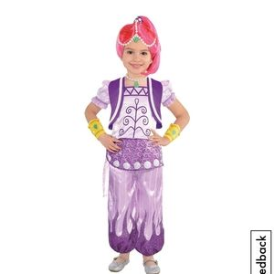 NWOT SHIMMER & SHINE SZ 3-4 COSTUME W\ ACCESSORIES